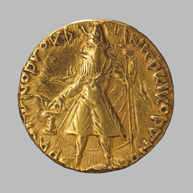 Coin of Kanishka, ca. 130 A.D. Pakistan