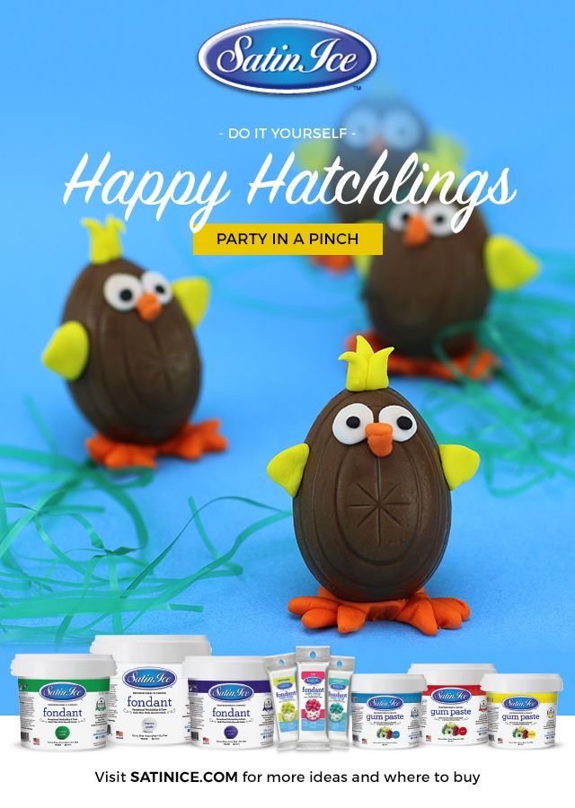 """Nobody wants to say """"cheep cheep"""" cheerio to these delectable delights! Satin Ice Fondant makes these tutorials easy and fun for the whole family!"""