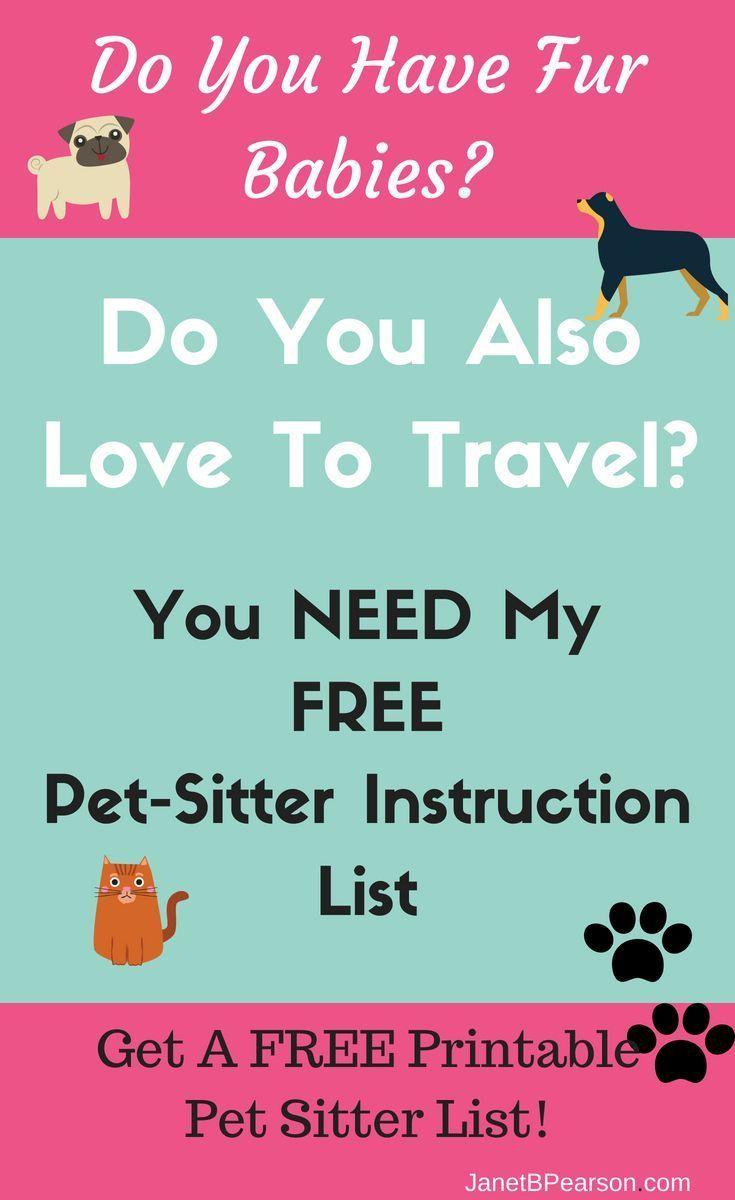 Free petsitter instructions printable pets dog