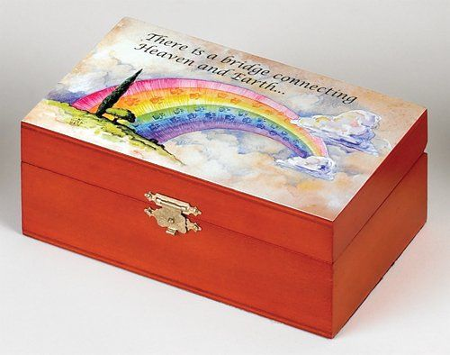 Medium Rainbow Bridge Wooden Box - Perfect Religious Gift -- Click on the image for additional details.