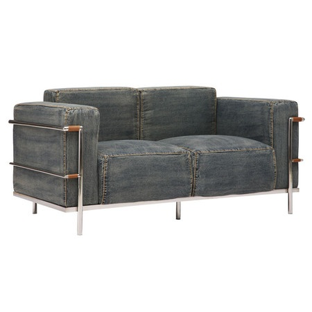 Taking A Classic Design And Added A Casual Twist, The Lasso Loveseat Is The  Perfect Blend Of Comfort And Style. The Body Is Wrapped With A Soft Denim  ...