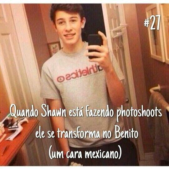 Quando Shawn faz photoshoot ele não se sente confortável, então ele se transforma no Benito