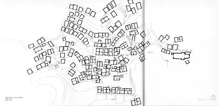 Brontallo Ground Floor, survey by Max Bosshard, Eraldo Consolascio and Orlando Pampuri, 1974 (Aldo Rossi, Eraldo Consolascio, Max Bosshard, La Costruzione Del Territorio Nel Cantone Ticino, Lugano, Fondazione Ticino Nostro, 1979, pp. 666-667-668)