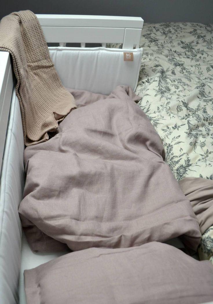 Påslakanset för barn, 100 % linne. Färg Dusty Pink. Kollektion NG Baby Mood. | Källa: Andrea Norrman