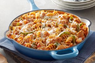 Chicken-Pasta Skillet recipeCooking Sprays, Chickenpasta Skillets, Skillet Recipes, Green Peppers, Chicken Pasta Skillets, Italian Dishes, Skillets Recipe, Chicken Breast, Recipe Chicken