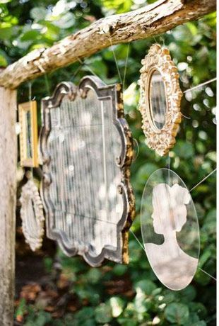 outdoor mirrors  - Read more on One Fab Day: http://onefabday.com/festival-style-wedding-ideas/