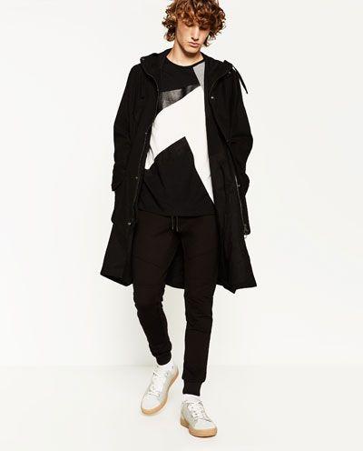 人工スエードTシャツ-今週の新商品-メンズ | ZARA 日本