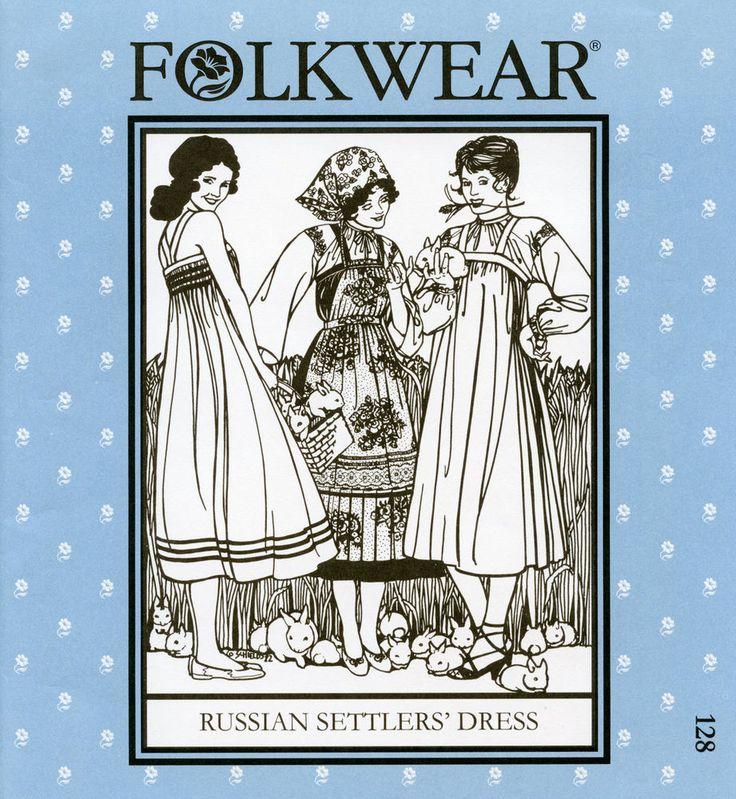 Folkwear Russian Settlers' Dress | Jumper, Blouse & Apron Sewing Pattern # 128 #Folkwear #RussianSettlersDress: