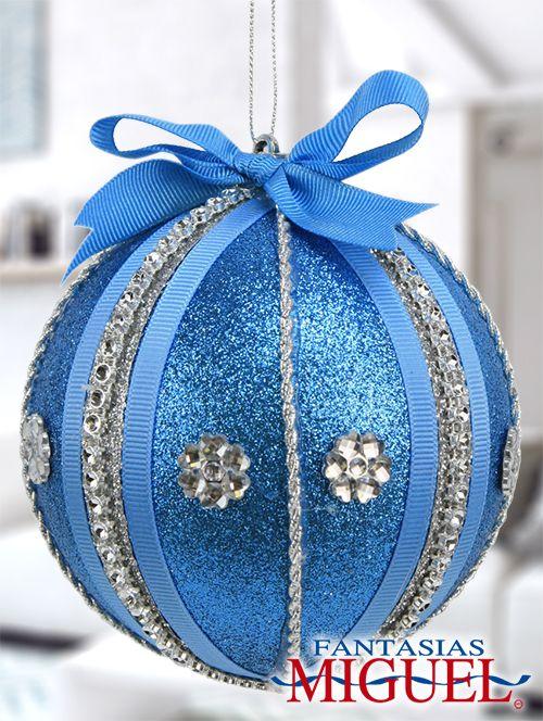 esfera azul  / Navidad 2014 / Adorno / Decoración