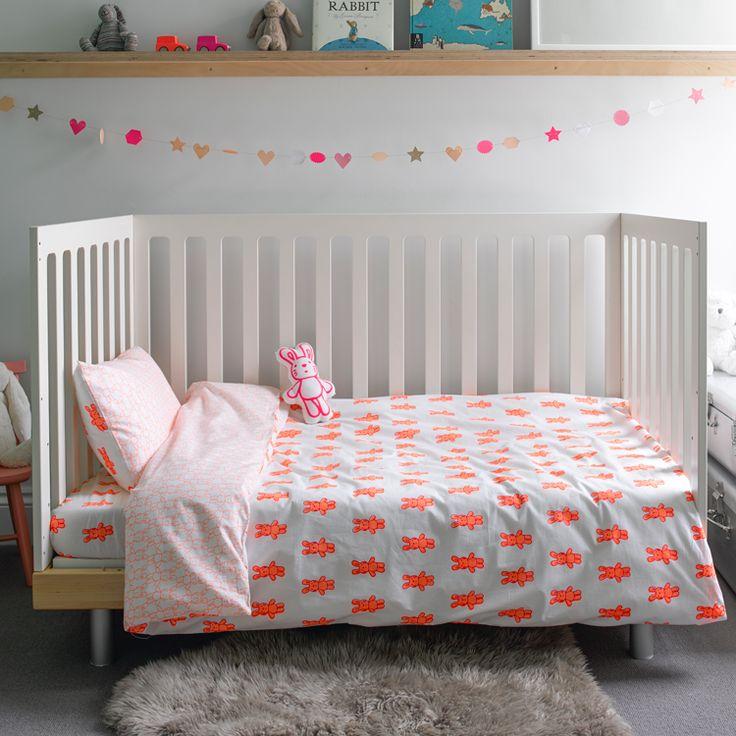 Bunny rabbit toddler cot bed duvet set