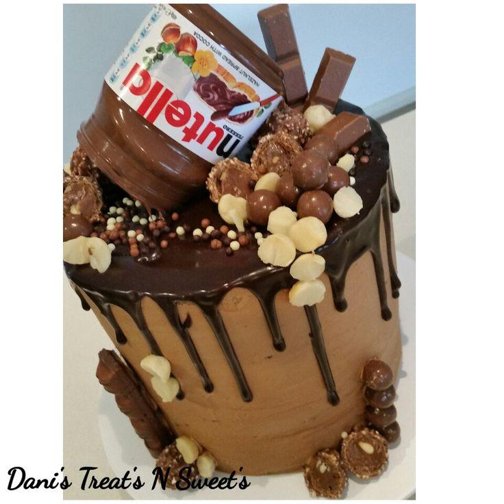 Loaded choc nutella drip cake