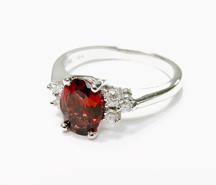 For someone who wants something a little different.  #garnet #engagement #wedding