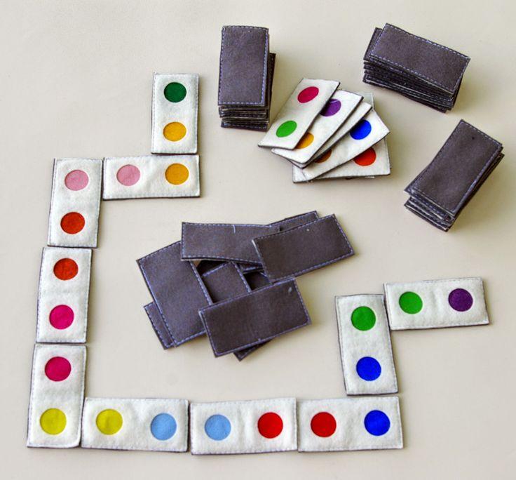 Plstěné domino - barvy