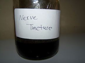 This nerve tincture contains an amazing group of herbs that relax, calm and bring rest. This tincture is safe for babies as well as adults. It can be used for: Sleeplessness Seizures Stomach Cramps Relax a Mother's Muscles Threatening to Miscarry Relax a person going through great mental or physical stress Calm a person that is high-strung Help a baby with colic or that has trouble relaxing