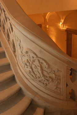 Escalier Du0027honneur Et Le Monogramme Du Duc Léopold   Château Des Lumières De  Lunéville