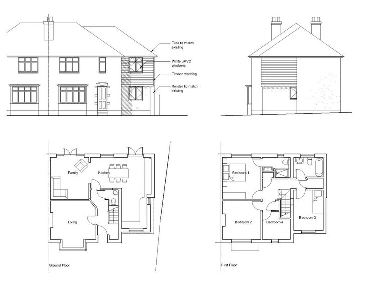 semi detached extension layout ideas - Google Search