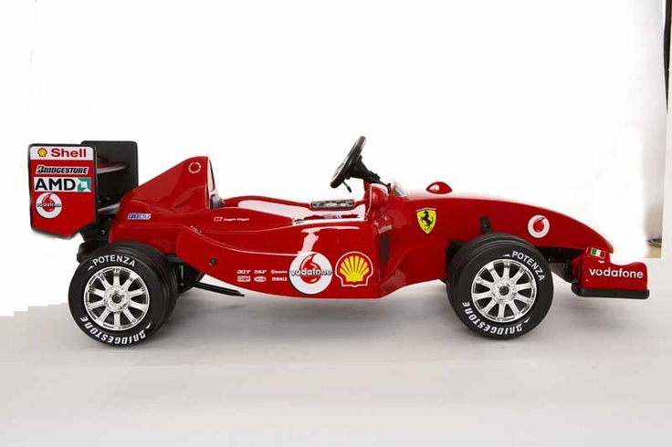 ferrari f1 ride on electric car for kids side view toys