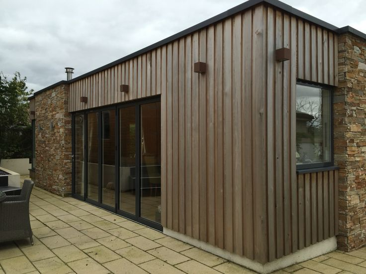 Timber cladding. Our house extension project in North Lanarkshire