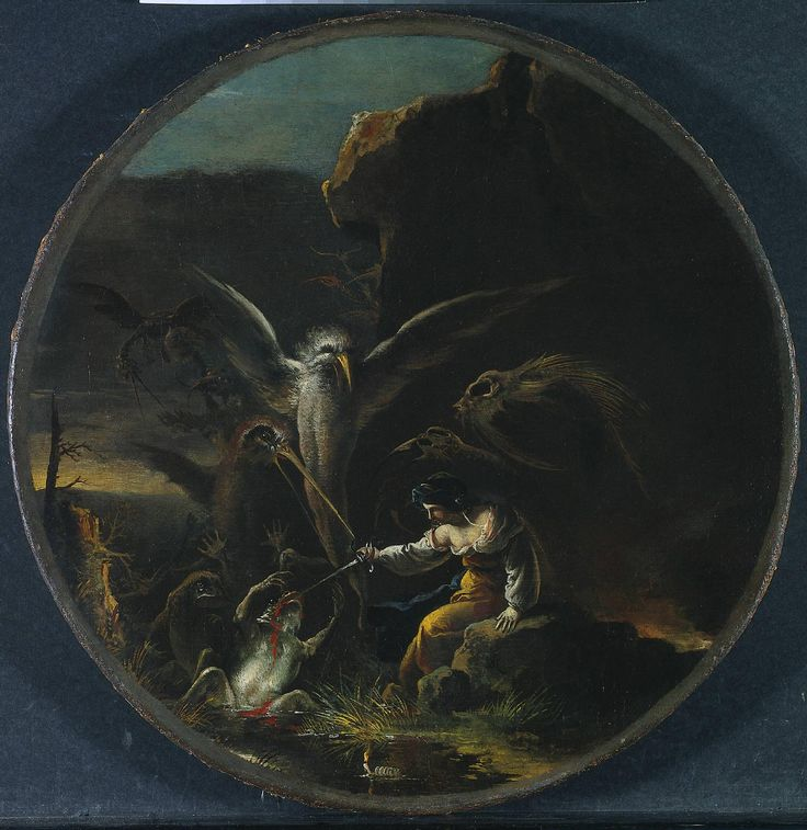 Salvator Rosa Scene with Witches Morning 1645-1649 painting-artwork-print