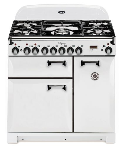 Aga stoves - classic looks with modern features | Vintage White with solid doors