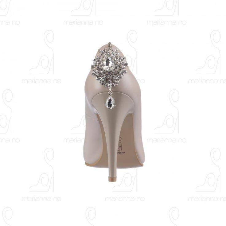 Buty Ślubne Beżowe Skóra Naturalna 38
