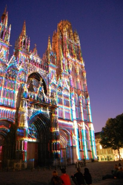 Rouen Cathedral at Christmastime