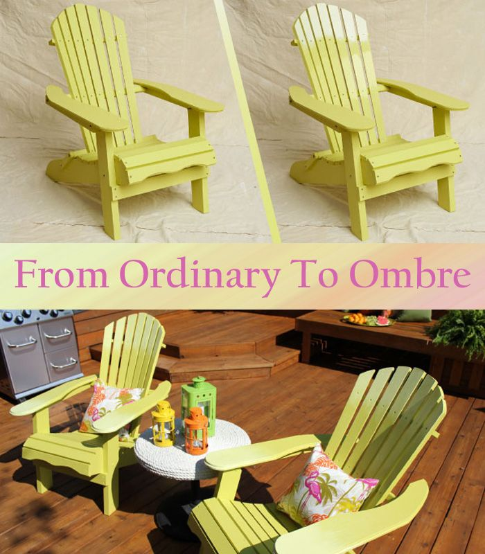 #BevBell shows you how to turn ordinary adirondack chairs into a trendy work of art. #DIY #ombre