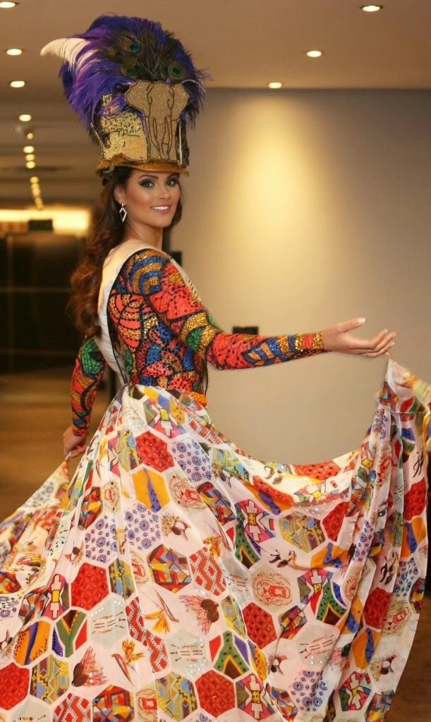 Miss World 2014 National Costumes South America Miss