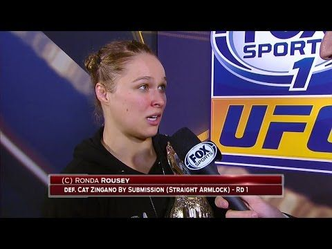 REPLAY! Rousey Reacts After 14 Second Win Over Zingano   BJPENN.COM