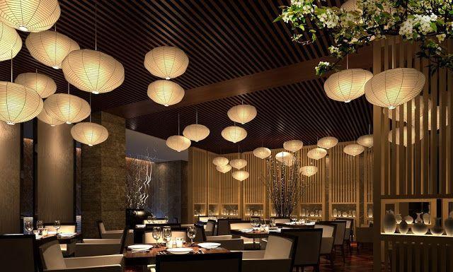 Chinese restaurant interior bamboo design ideas