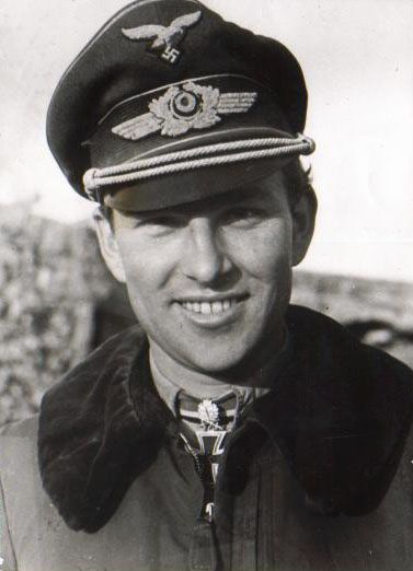 "Original caption: ""This is the adorable Lieutenant-General Gerhard ""Gerd"" Barkhorn (1919–1983), who wasn't so adorable if you were flying for the Allies in World War II. Gerd was the second most successful fighter ace of all time after fellow Luftwaffe pilot Erich Hartmann, another history crush. Gerd flew 1,104 combat sorties, was credited with 301 victories on the Eastern Front against the Soviet Red Air Force, and survived the war after a brief stint as an Allied prisoner of war in 1945."""