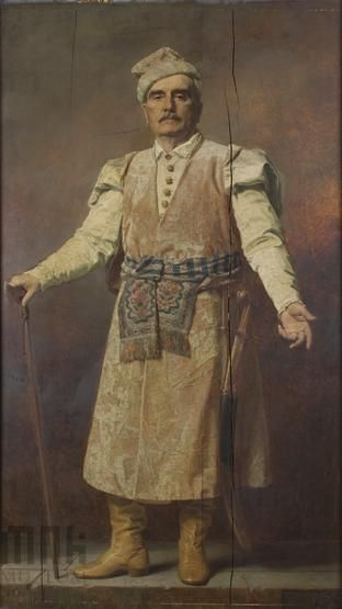 Portret Władysława Chadźkiewicza |  Mniszech, Andrzej | 1884 Katalog MNK