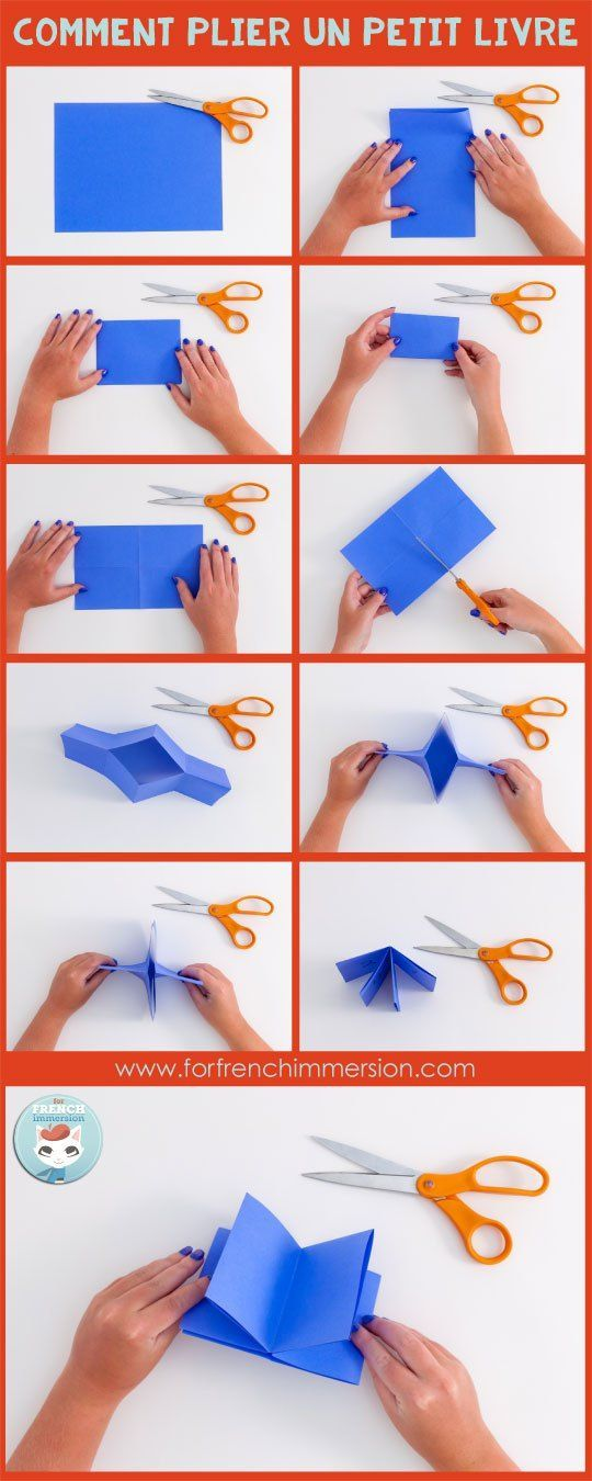 Comment plier un petit livre. French Verbs Mini-book: a one-cut foldable mini-book for your students to have the most important French verbs at hand. Post includes free printable :)