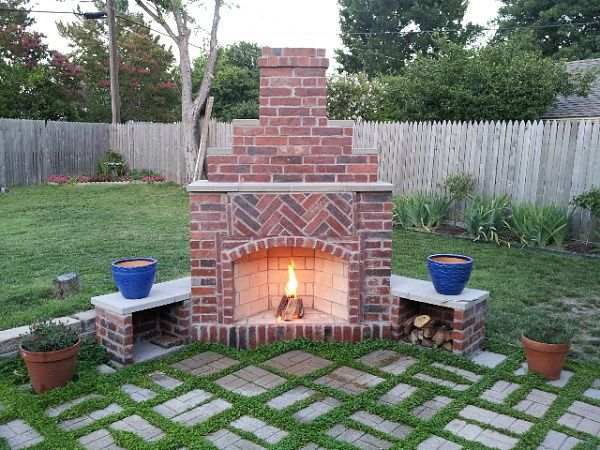 The 25+ best Outdoor fireplace designs ideas on Pinterest ... on Simple Outdoor Brick Fireplace id=92538