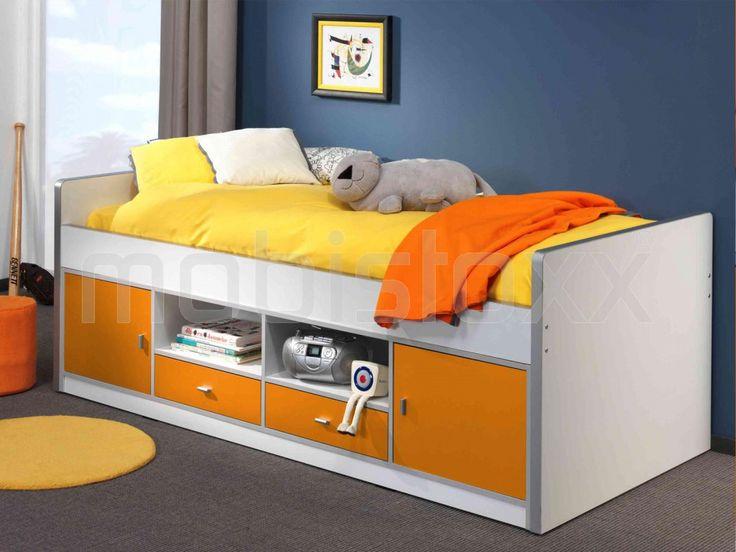 Bed BONNY I 90x200 cm oranje | Mobistoxx | Meubels online | bureau, inkom, kinderkamer, slaapkamer, keuken, eetkamer, salon, zitbanken, relaxfauteuils en badkamer