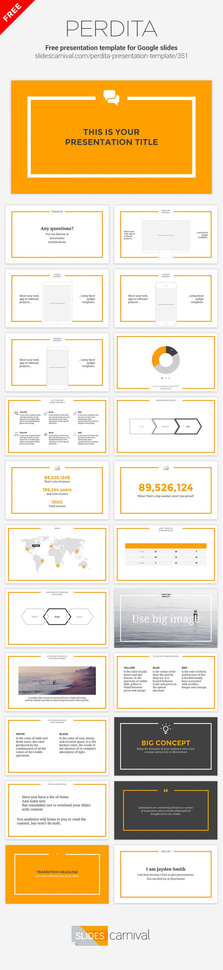 With an elegant layout but using bright orange as a single accent color to make it bolder and memorable, your content will shine with this lively and modern design. Orange doesn't suit you? No problem, you can change it to red, blue, green, etc to adapt it to any brand and the design will still be gorgeous.