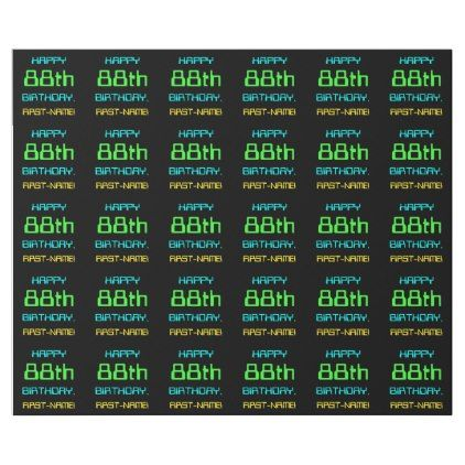 #Fun Digital Computing Themed 88th Birthday Wrapping Paper - #birthday #gifts #giftideas #present #party