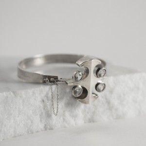 Silver and rock crystal bracelet from Salovaara