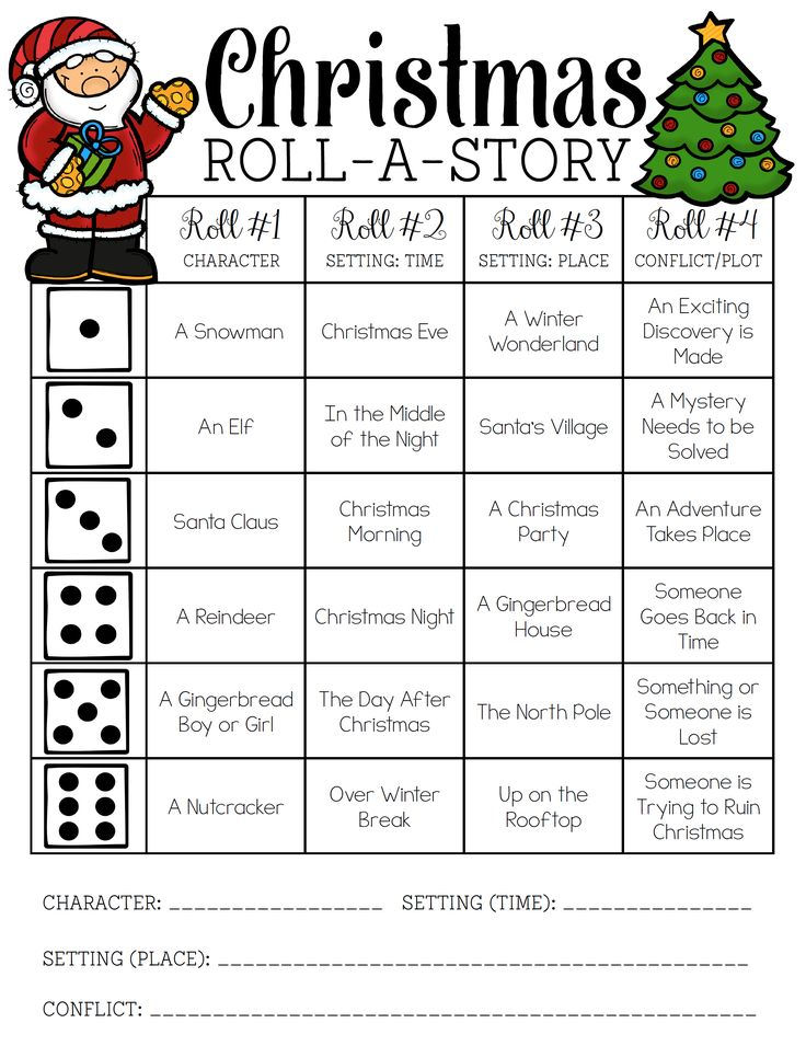 Christmas Roll-a-Story FREEBIE!! You can easily modify for use in a Spanish class.