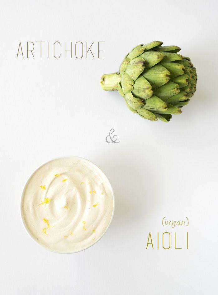 steamed artichoke & vegan aioli sauce