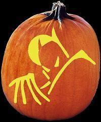 SpookMaster - Batman Pumpkin Carving Pattern - Jack O Lantern