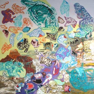 "Saatchi Art Artist Maia S Oprea; Painting, ""DUSTOGRAPHY IV"" #art #children #pregnancy #love #faith #colour #acrylic #painting"