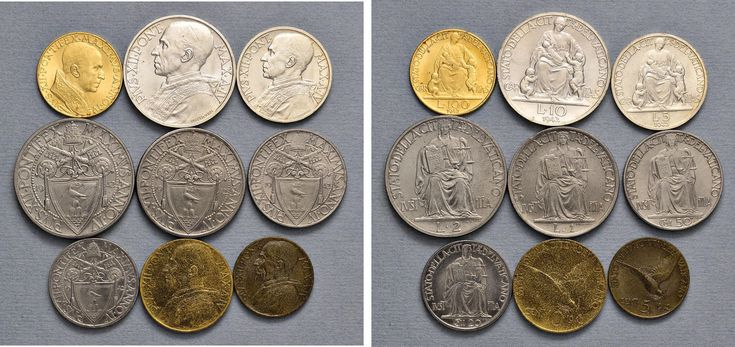 NumisBids: Nomisma Spa Auction 50, Lot 311 : Pio XII (1939-1958) Divisionale 1942 A. IV – 100, 10, 5, 2 e una...