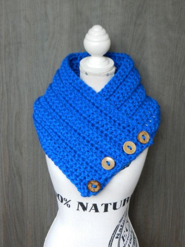 Kol, nekwarmer Koningsblauw