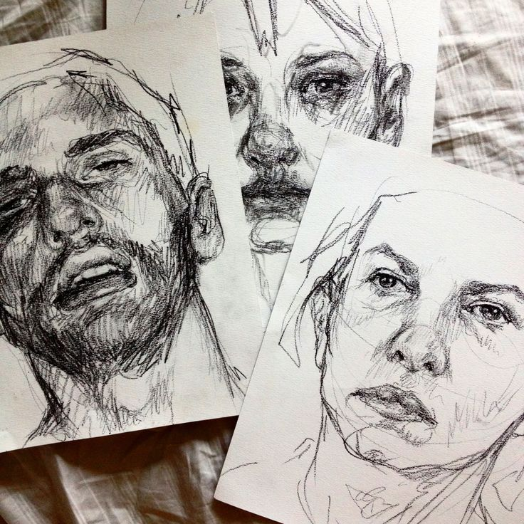Newspaper And Charcoal Painting Simple Face