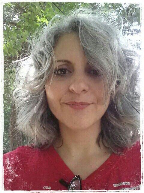 gray wavy coarse hair