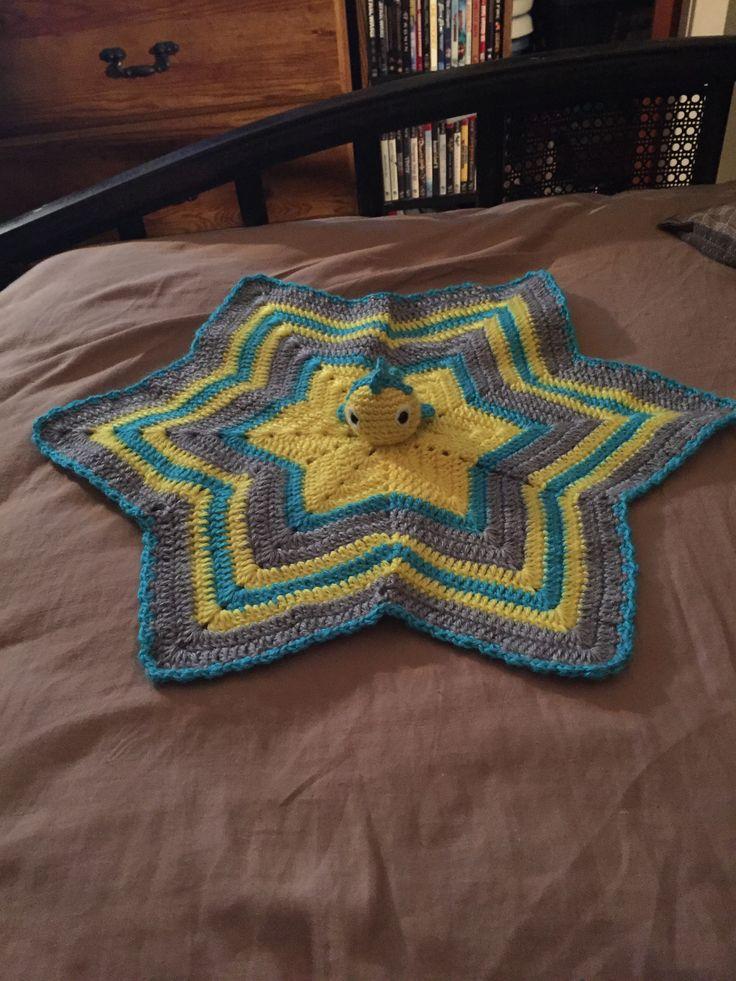 Little Mermaid's Flounder inspired security blanket