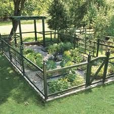 """vegetable garden idea: """"The 576-square-foot plot produces veggies all summer for a"""
