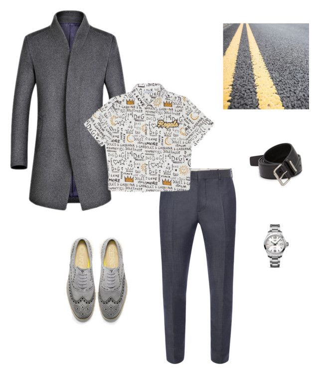 """Без названия #45"" by luda-minyeva on Polyvore featuring Cole Haan, Alexander McQueen, Dolce&Gabbana, Yves Saint Laurent, Longines, men's fashion и menswear"