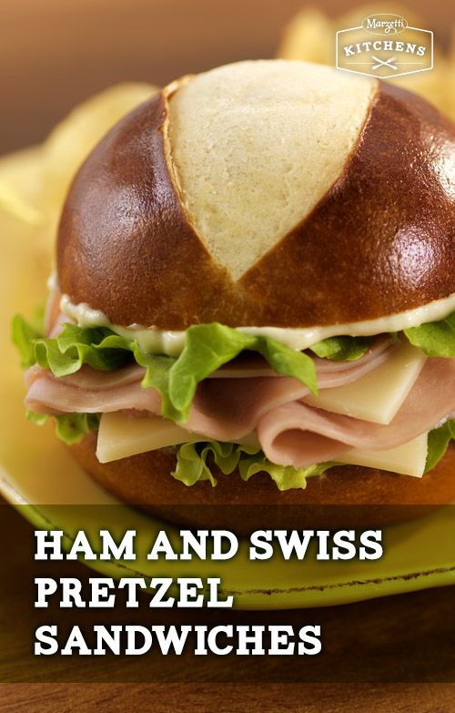 Ham and Swiss Pretzel Sandwiches: Horseradish, ham, Dijon mustard and Sister Schubert's Soft Pretzel Rolls round out this easy-to-make sandwich. It's a tasty recipe for those looking to try a new spin on something familiar.